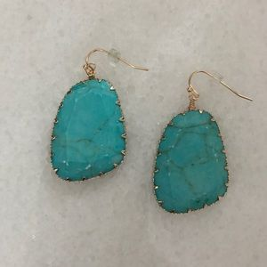 All Eyes On Me Stone Drop Earrings, Turquoise